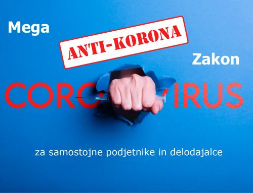 Mega Anti-Korona Zakon – najnovejši ukrepi, 10. 4. 2020